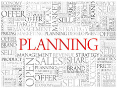 Business Planning Word Concept Wallpaper Mural