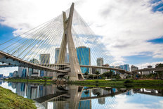 Cable-Stayed Bridge in Sao Paulo Brazil Wallpaper Mural