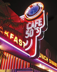 Cafe 50's Wall Mural