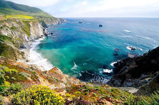 California Coast Mural Wallpaper