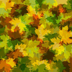 Camo Leaves Mural Wallpaper