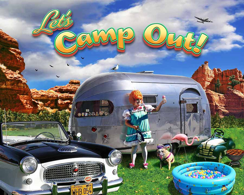 Camp Out Mural Wallpaper