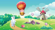Candy Kingdom #2 Wall Mural