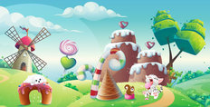 Candy Kingdom #3 Wall Mural