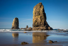 Cannon Beach Rocks Mural Wallpaper