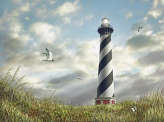 Cape Hatteras Light Mural Wallpaper