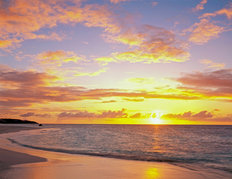 Caribbean Sunset, Anguilla Mural Wallpaper