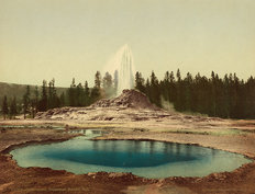Castle Geyser, Yellowstone National Park Wall Mural