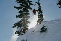 Catching Air, Alpental Backcountry Wallpaper Mural