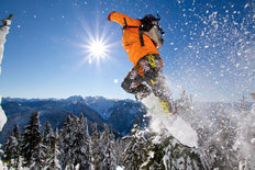 Catching Air, Stevens Pass Wall Mural