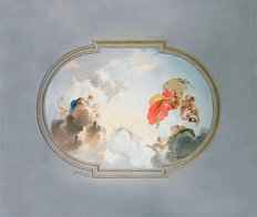 Ceiling Depicting Apotheosis-Full Wall Mural