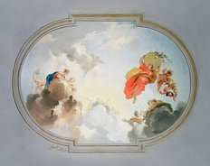 Ceiling Depicting Apotheosis Wallpaper Mural