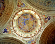 Ceiling of Cathedral of Eger, Hungary Wall Mural