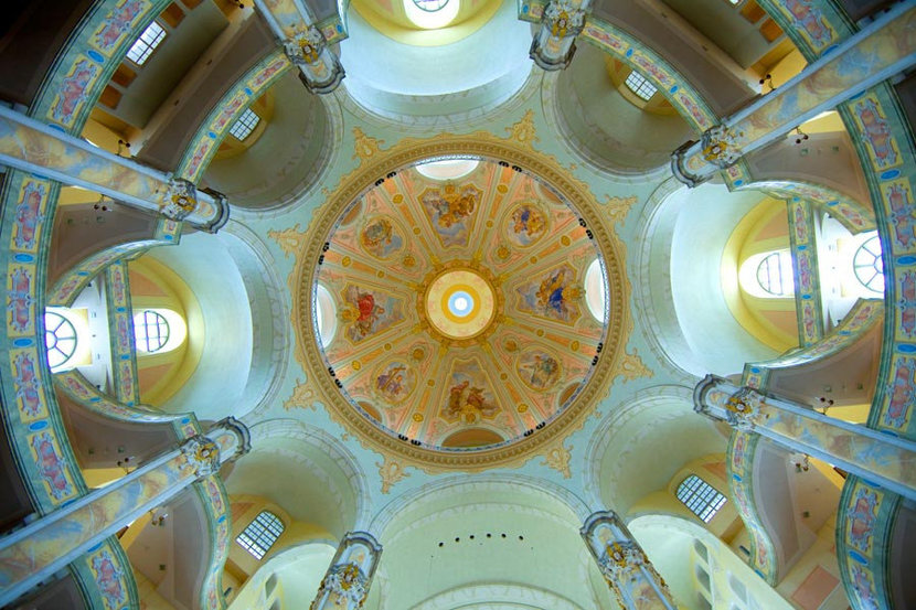 Ceiling of the Frauenkirche, Dresden Cathedral, Dresden, Germany  Mural Wallpaper