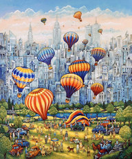 Central Park Balloons Wall Mural
