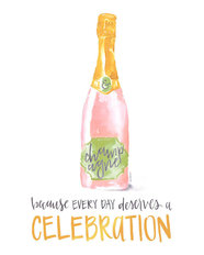 Champagne Celebration Mural Wallpaper
