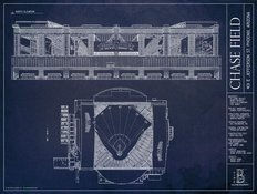 Chase Field Blueprint Wall Mural