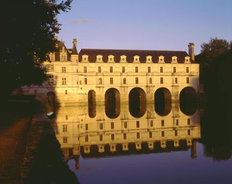 Chateau De Chenonceau Sunset Wall Mural
