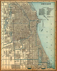 Chicago, IL 1893 Map Wall Mural