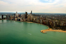 Chicago Skyline  Mural Wallpaper
