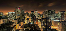 Chicago Skyline After Dark Wall Mural