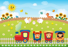 Choo Choo Train Wallpaper Mural