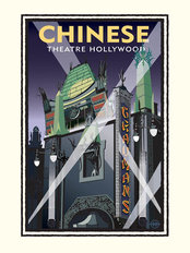 Chinese Theater Showtime Wallpaper Mural