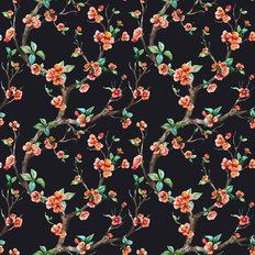 Chinoiserie Branches Pattern - Dark Wallpaper