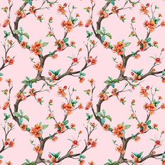 Chinoiserie Branches Pattern Wallpaper