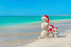 Christmas At The Beach Wall Mural