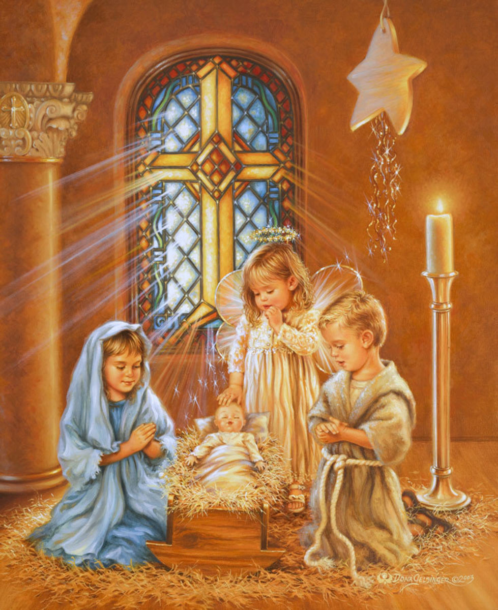 Christmas Pageant Mural Wallpaper
