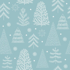 Christmas Tree Pattern Wallpaper Mural