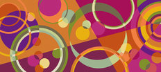 Circles Autumn Wallpaper Mural