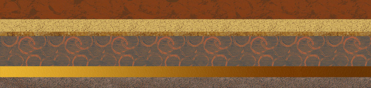 Circles In The Sand 1 - Panoramic Wall Mural