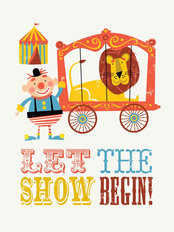 Circus Let the Show Begin Mural Wallpaper