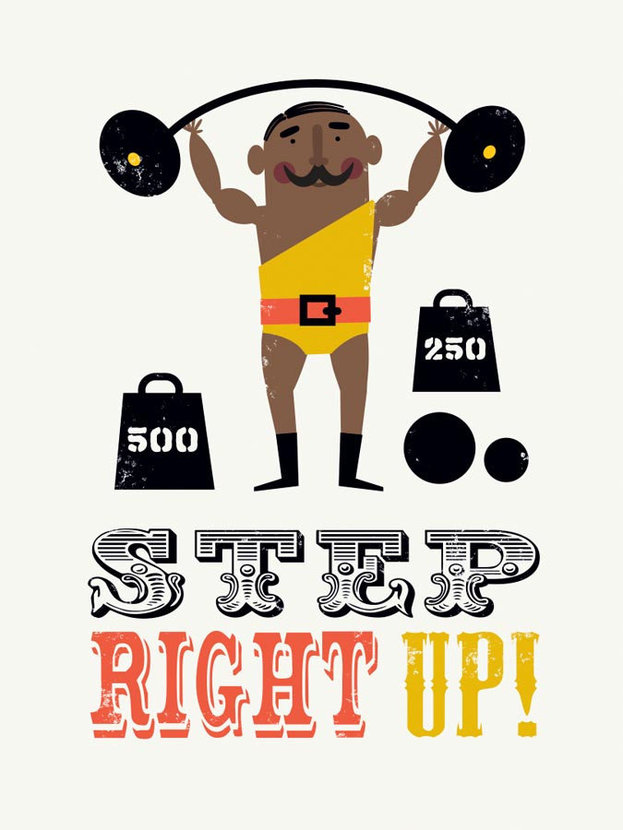 Circus Step Right Up Mural Wallpaper