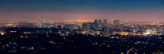 City Lights In Los Angeles Wallpaper Mural
