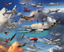 Classic Airplanes Wallpaper Mural