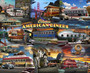 Classic American Diners Collage Wall Mural