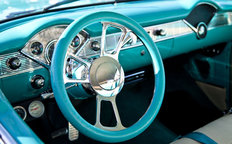 Classic Sports Car Interior Wallpaper Mural