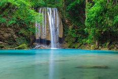 Clear Erawan Waterfall Kanchanaburi, Thailand Wallpaper Mural