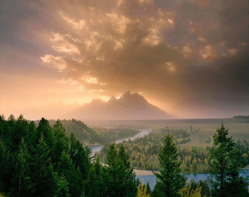 Clearing Storm, Tetons, Wyoming Mural Wallpaper