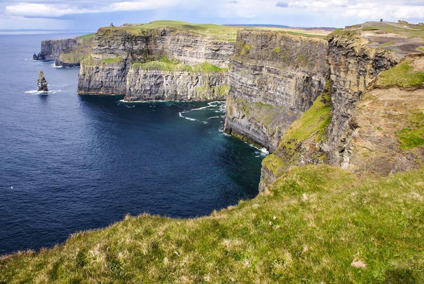 Moher Cliffs scenic view of the famous landmark in Ireland