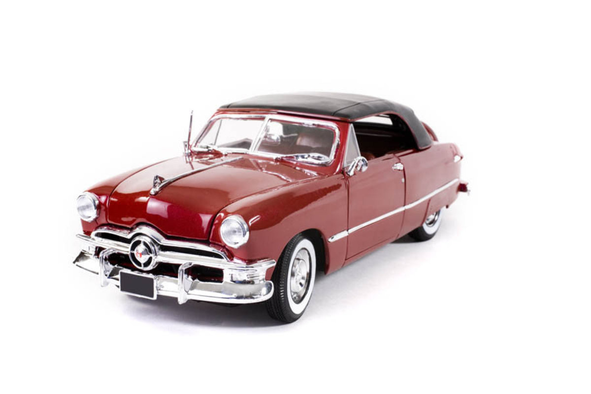 Red Collectible Car Wallpaper Mural