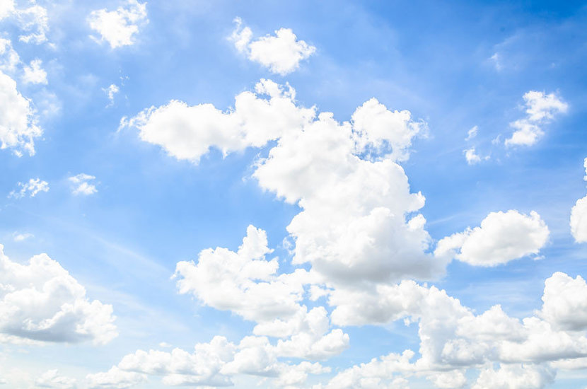 Sunny Clouds Wall Mural