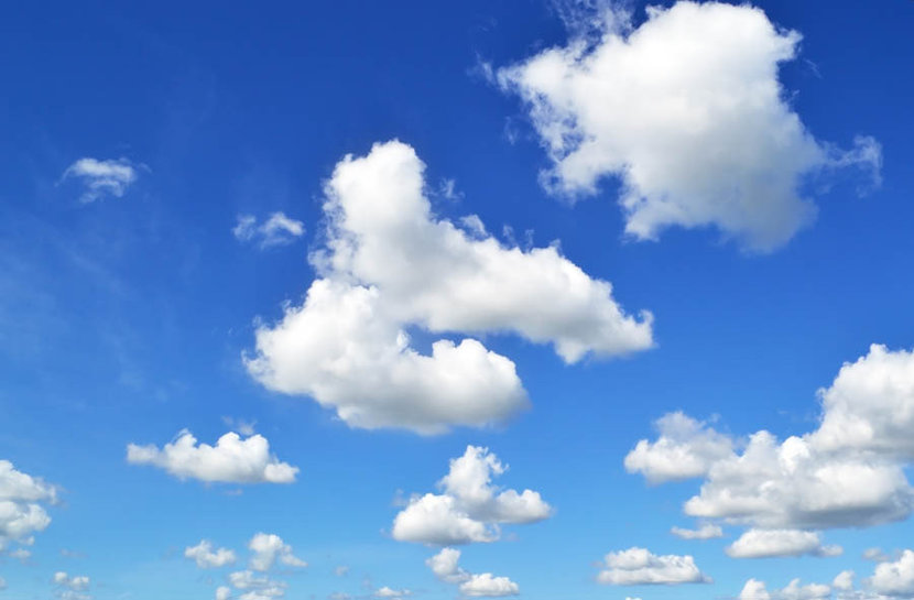 Clouds and Blue Skies Wall Mural