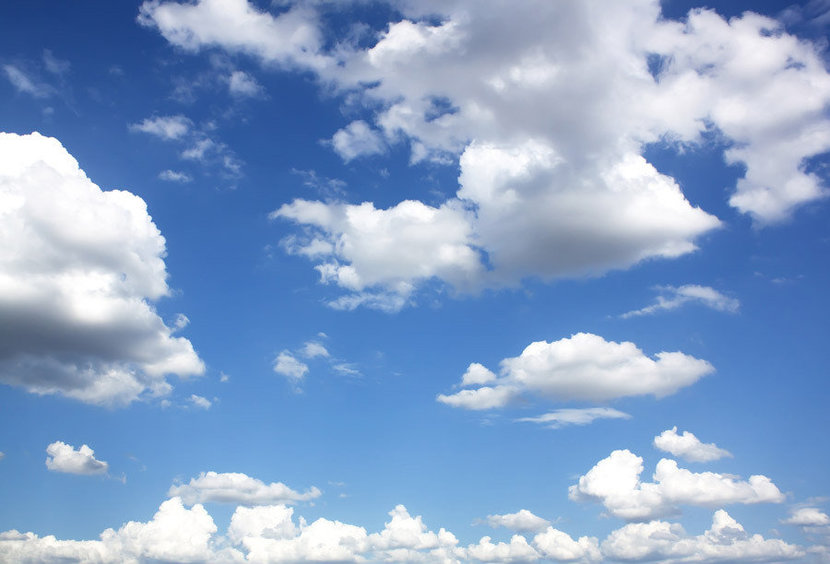 Clouds And Clear Blue Sky Wall Mural