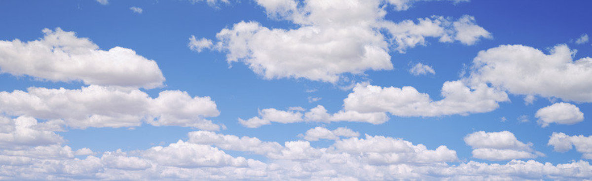 Clouds in Sky Panoramic Mural Wallpaper
