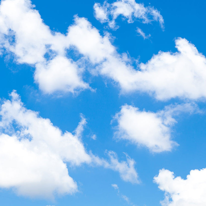 Clouds On A Clear Day Mural Wallpaper