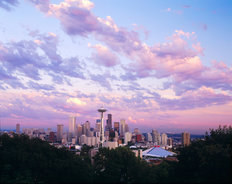 Clouds Over Seattle Mural Wallpaper